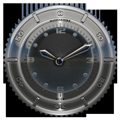Clock Widget Black Elephant
