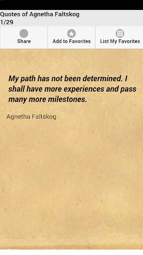 Quotes of Agnetha Faltskog