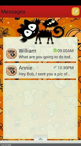 BlushingWitch GO SMS THEME