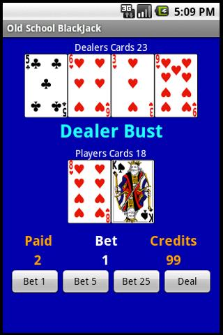 Free Old School BlackJack- screenshot
