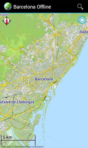 Offline Map Barcelona Spain