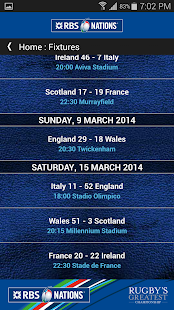 RBS 6 Nations Championship App - screenshot thumbnail