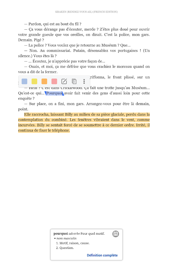 Kindle – Capture d'écran