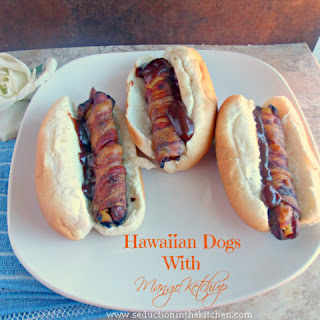 Hawaiian Hot Dogs With Mango Ketchup