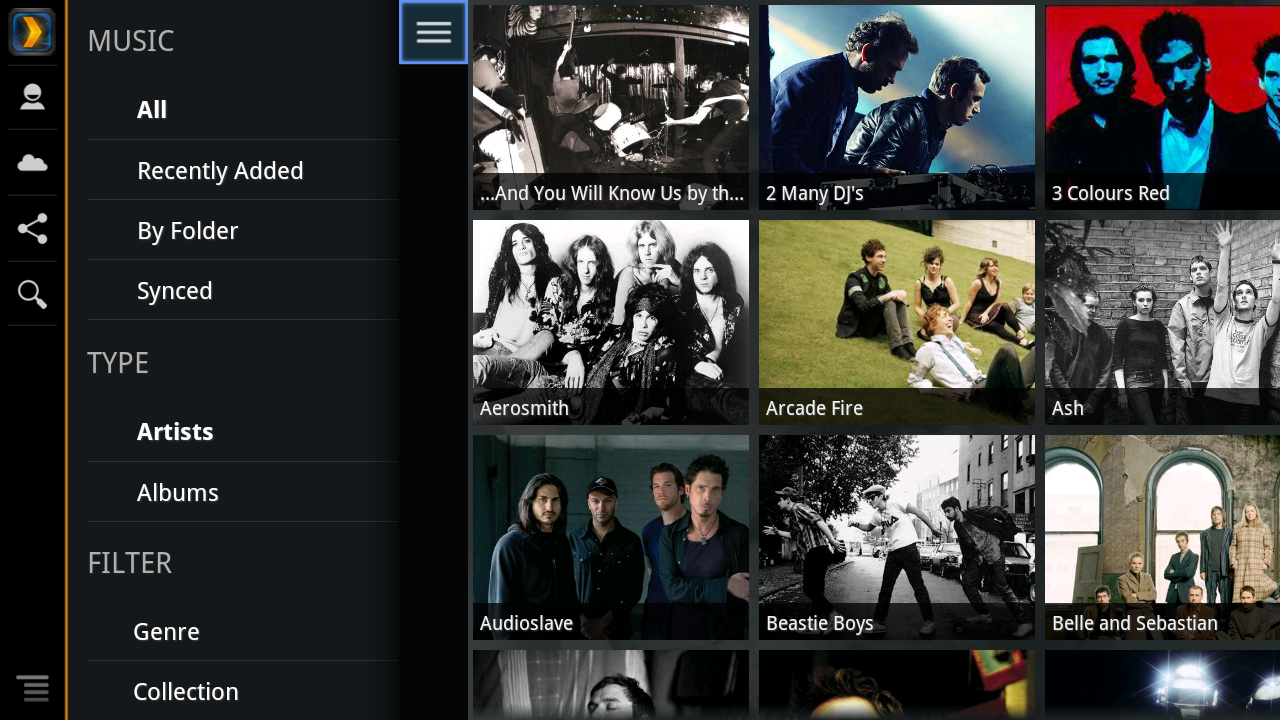 Plex for Sony Internet TV- screenshot
