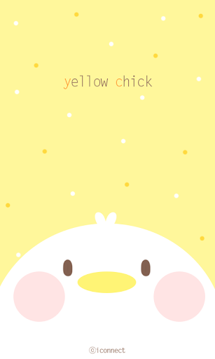 Yellow Chick go launcher theme