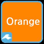 카카오톡 테마 - 기본 오렌지 테마 : 픽스토리스튜디오