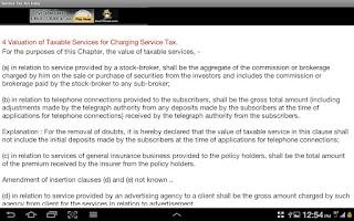 Screenshot of Service Tax Act India