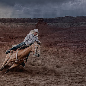 Cowgirl by Ivan Bertusi - Sports & Fitness Rodeo/Bull Riding