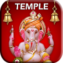 Ganesh Temple touch prayer icon