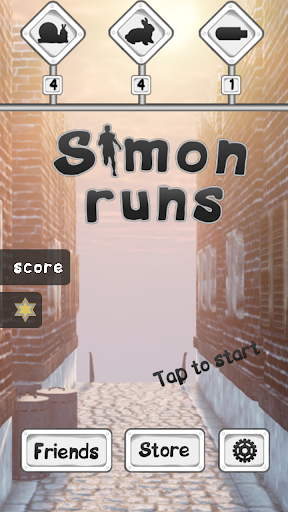 Simon runs
