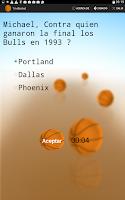 Screenshot of TriviBasket juego de  basket