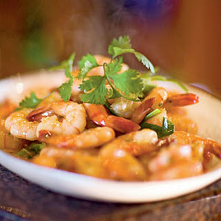 Stir-Fried Shrimp with Garlic and Chile Sauce.