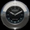 silver snake clock widget icon