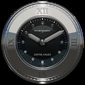 silver snake clock widget