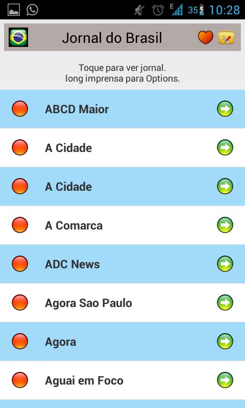 All Newspapers of Brazil-Free - screenshot