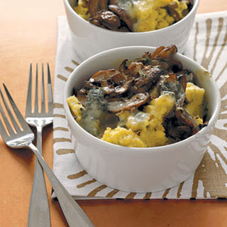 Baked Polenta with Mushrooms and Gorgonzola