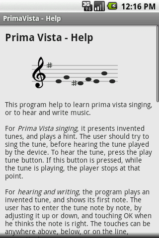 Prima Vista Sight Singing- screenshot