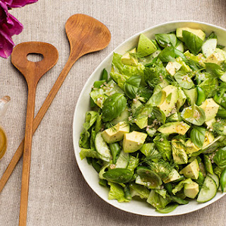 All Green Salad with Citrus Vinaigrette