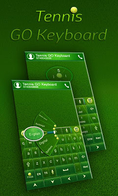 GO Keyboard Tennis Theme - screenshot