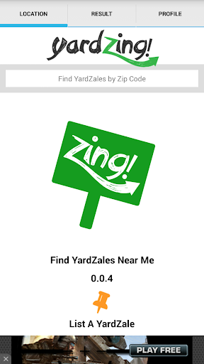 YardZing - Yard Sale Finder