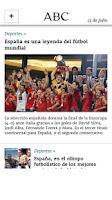 Screenshot of Diario ABC
