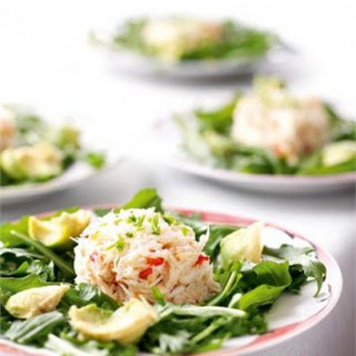 CRAB & AVOCADO SALAD WITH JAPANESE DRESSING