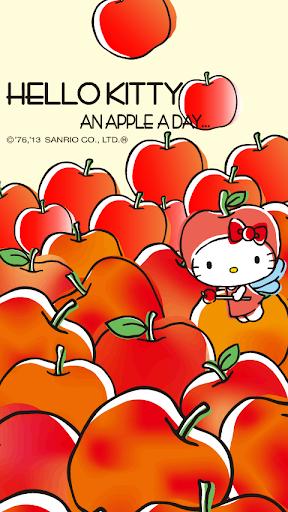 [ハローキティ]an apple a dayライブ壁紙