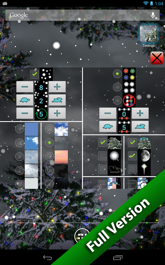 Winter Snowfall Free Wallpaper- screenshot