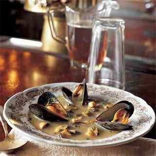 Mussel Saffron Soup.