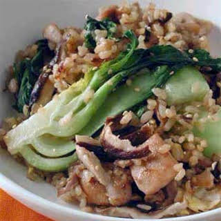 Chicken Fried Rice with Bok Choy.