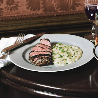"Beef Tenderloin Medallions with Potato ""Risotto"""
