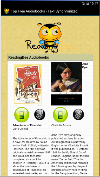 Reading Bee Audiobooks Premium - screenshot