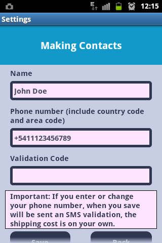 Making Contacts - screenshot