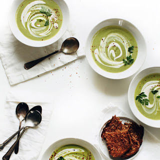 Cream of Broccoli Cashew Soup.