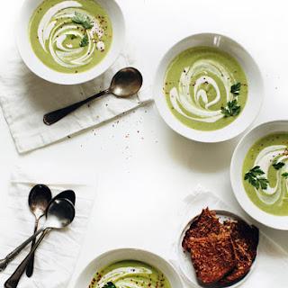 Cream of Broccoli Cashew Soup.