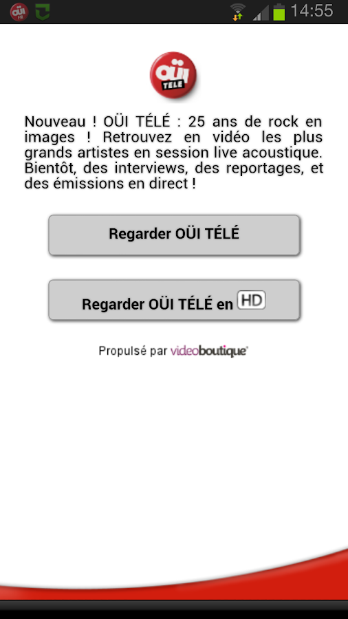 OUIFM  - Le Rock a sa Radio - screenshot