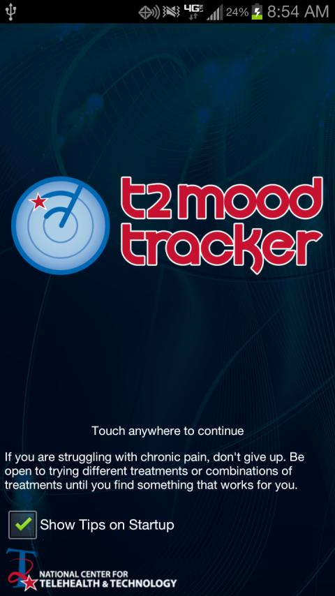 T2 Mood Tracker - screenshot