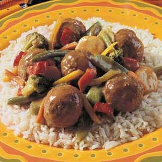 Veggie Meatball Medley