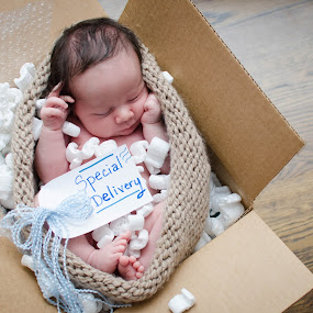 Special Delivery  by Melanee Thomas - Babies & Children Babies ( #newborn #mail #baby #specialdelivery #infant #child )