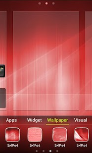 Sxi Red GO Launcher EX Theme - screenshot thumbnail