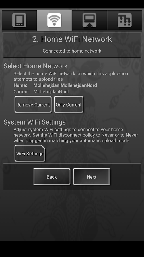 Sweet Home WiFi Picture Backup – Capture d'écran