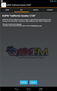 "KQPM ""California Country Q106""- screenshot thumbnail"