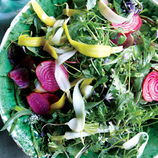 Spring Greens with Quick-Pickled Vegetables