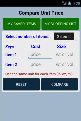 Unit Price Calculator