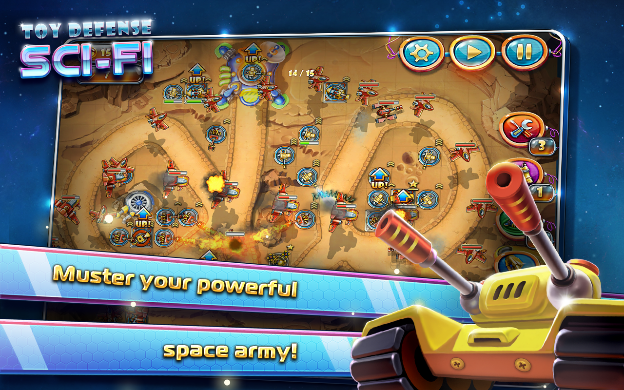 Toy Defense 4: Sci-Fi TD Free - screenshot