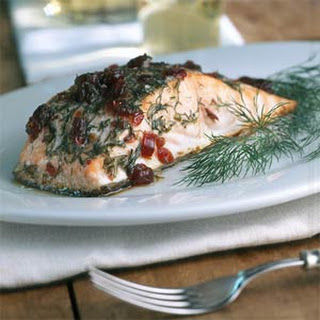 Alder-roasted Salmon with Dill and Cranberries