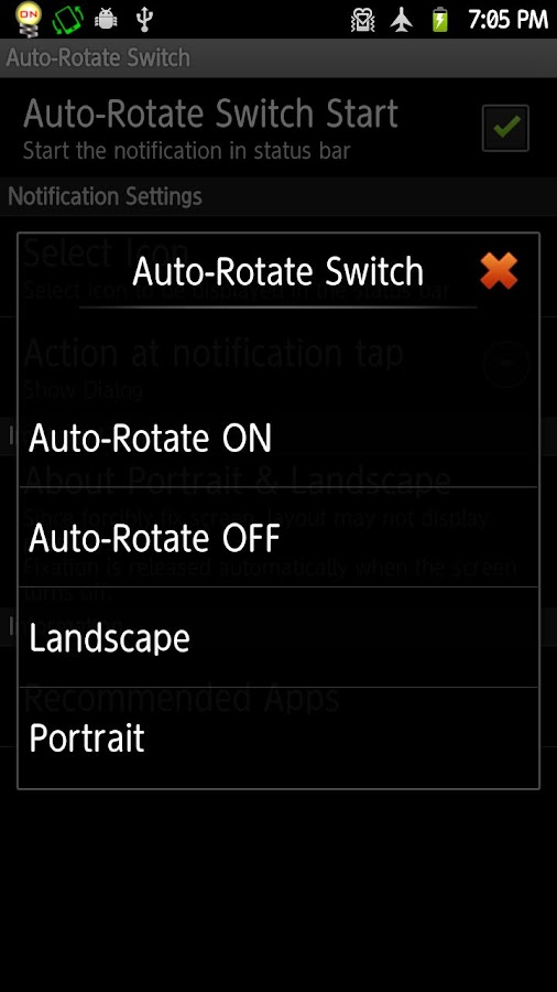 Auto-Rotate Switch- screenshot