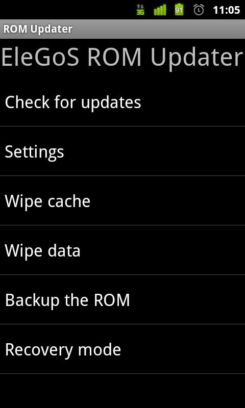 ROM Updater- screenshot
