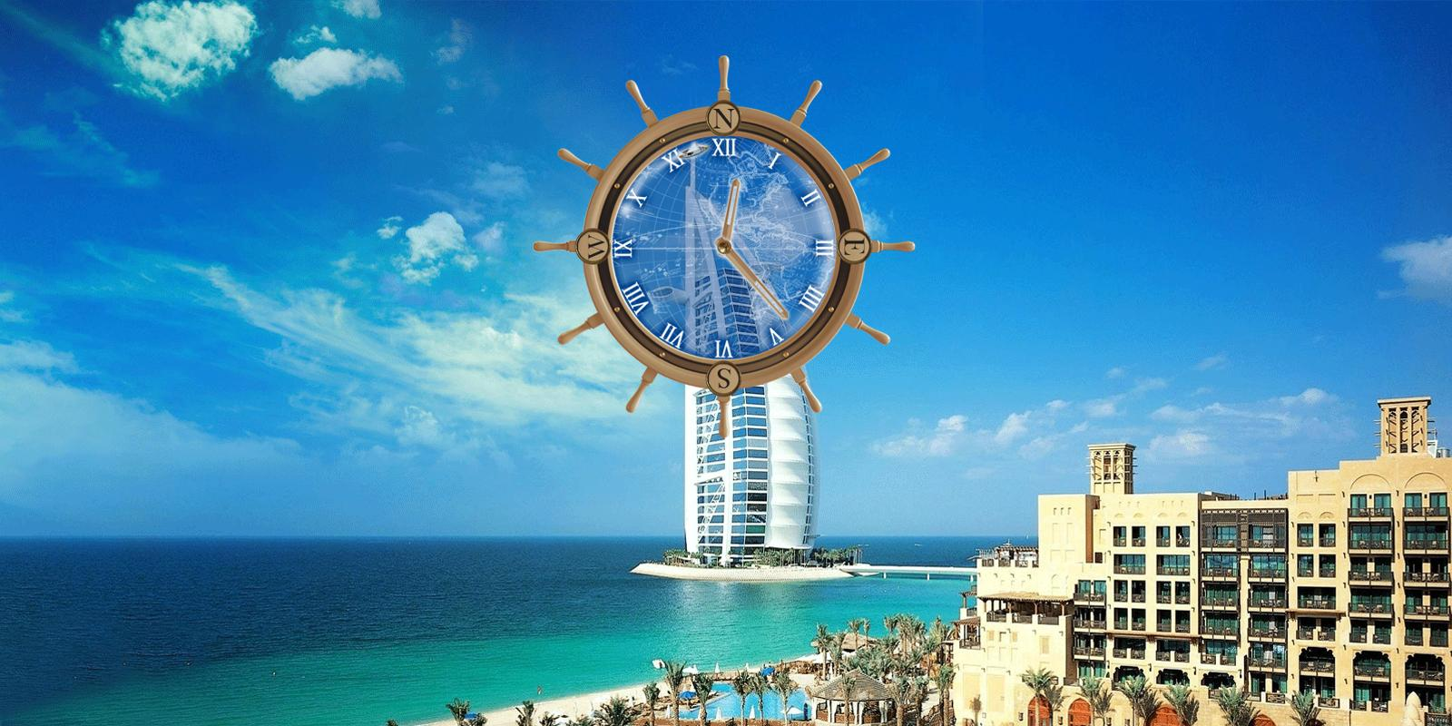Dubai hotels compass clock lwp screenshot